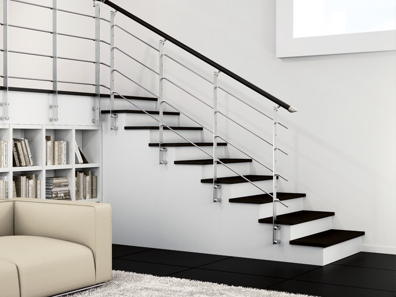 Steel and wood Stair railing ZENITH | Balustrade by RINTAL