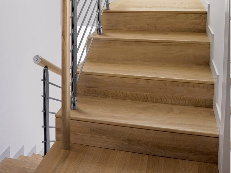 Oak staircase cladding Staircase cladding by RINTAL