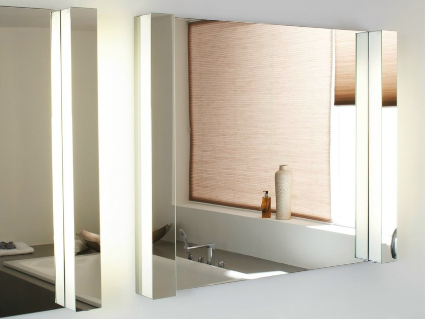 Wall-mounted mirror with integrated lighting BETTEROOM LICHTSPIEGEL by Bette