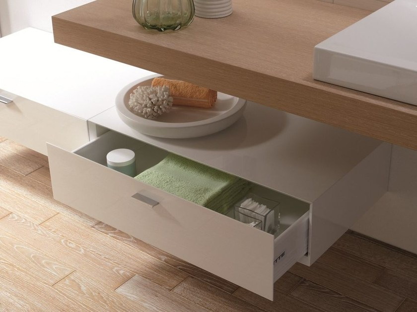 Low suspended bathroom cabinet with drawers BETTEROOM SCHUBLADE by Bette