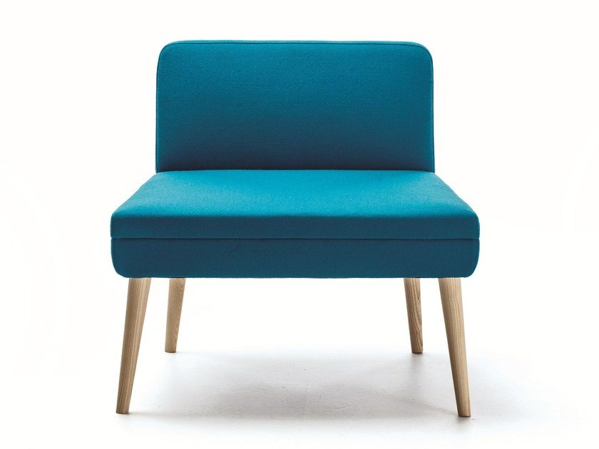 Upholstered guest chair SERIE_50W | Easy chair by La Cividina