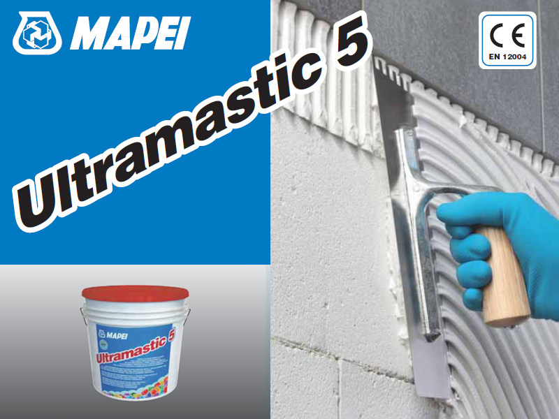 Glue and mastic ULTRAMASTIC 5 by MAPEI