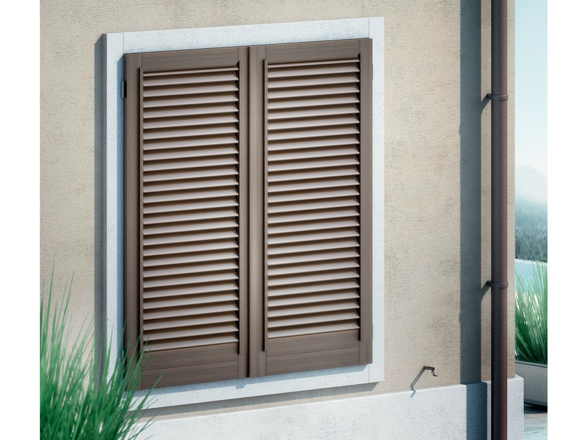 Wooden shutter MEZZA FIORENTINA by BG legno