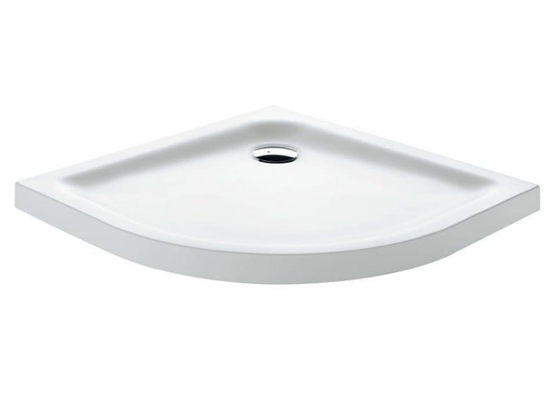 Corner Corian® shower tray Corian® shower tray by Gruppo Geromin