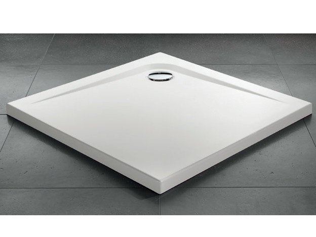 Square acrylic shower tray ZEROQUATTRO® | Square shower tray by Gruppo Geromin