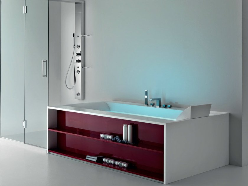 Whirlpool Corian® bathtub SENSUAL 190 S by Gruppo Geromin