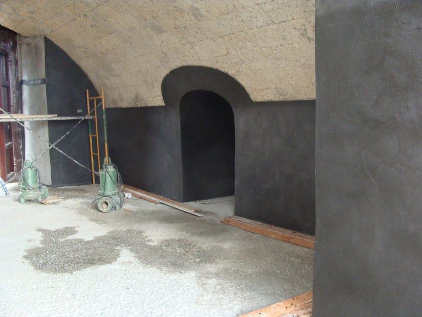 Utilizzo di WATstop per l'impermeabilizzazione di controspinta di una vecchia muratura realizzata in blocchi di granito