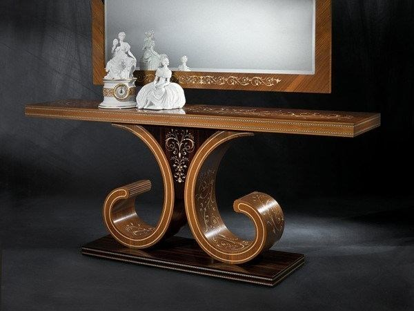 Rectangular walnut console table MB46 | Console table by Carpanelli Classic