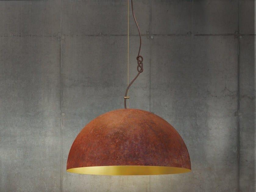 Handmade gold leaf pendant lamp THE QUEEN MEDIUM by Mammalampa