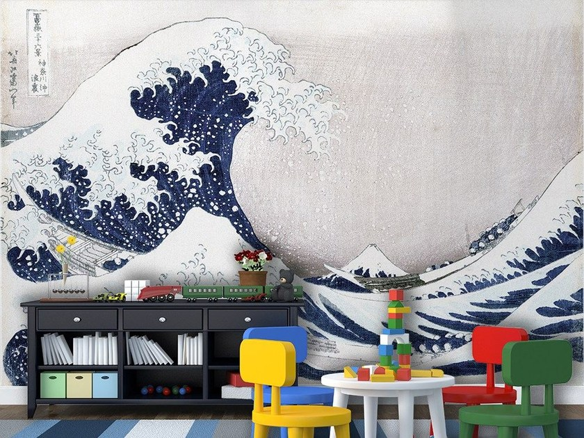 Artistic wallpaper THE GREAT WAVE OF KANAGAWA by MyCollection.it