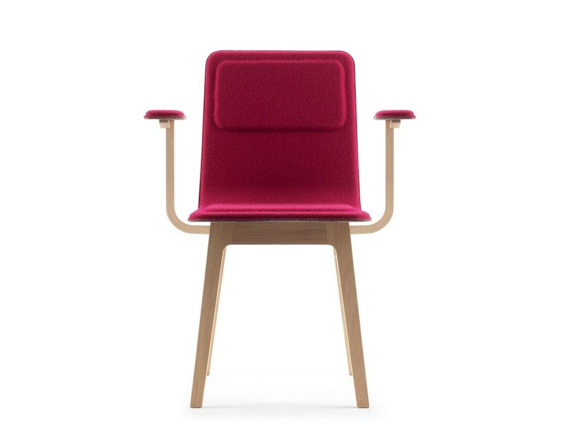 Fabric chair with armrests LAIA | Chair with armrests by ALKI