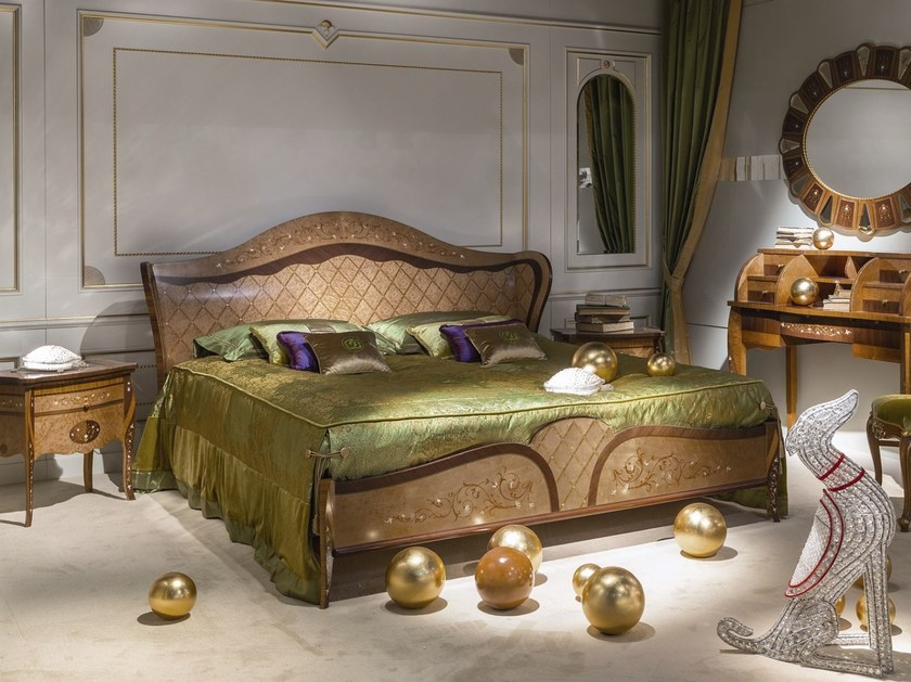 Wooden double bed ARTS | Wooden bed by Carpanelli Classic