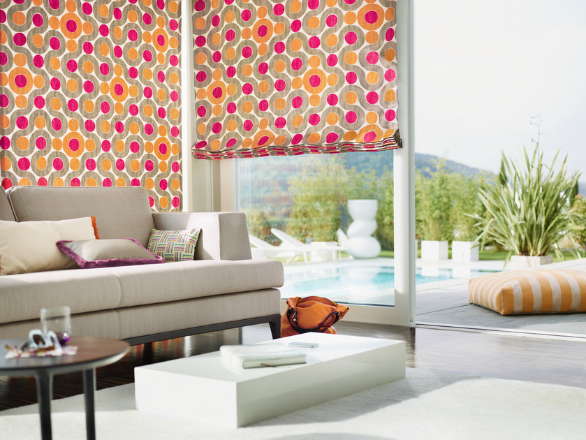 Washable fabric with graphic pattern SOLARIS | Fabric for curtains by Zimmer + Rohde