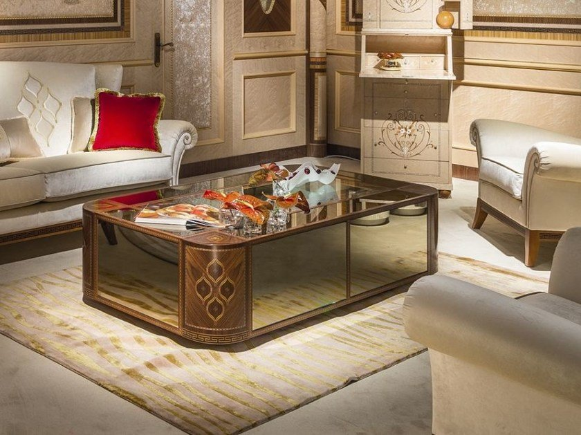 Low rectangular wooden coffee table ARTS | Coffee table by Carpanelli Classic