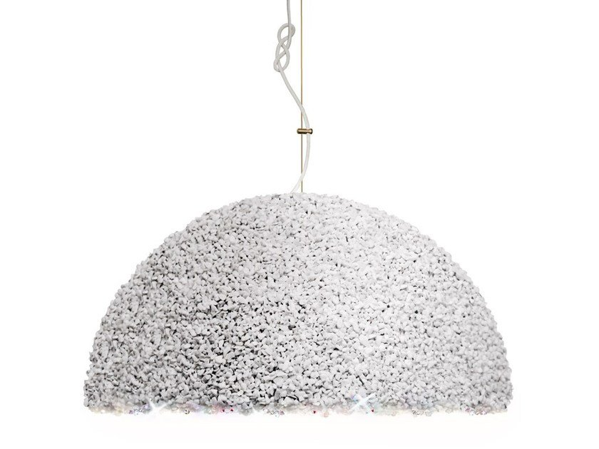 Handmade marble pendant lamp with Swarovski® Crystals THE DUCHESS LARGE by Mammalampa