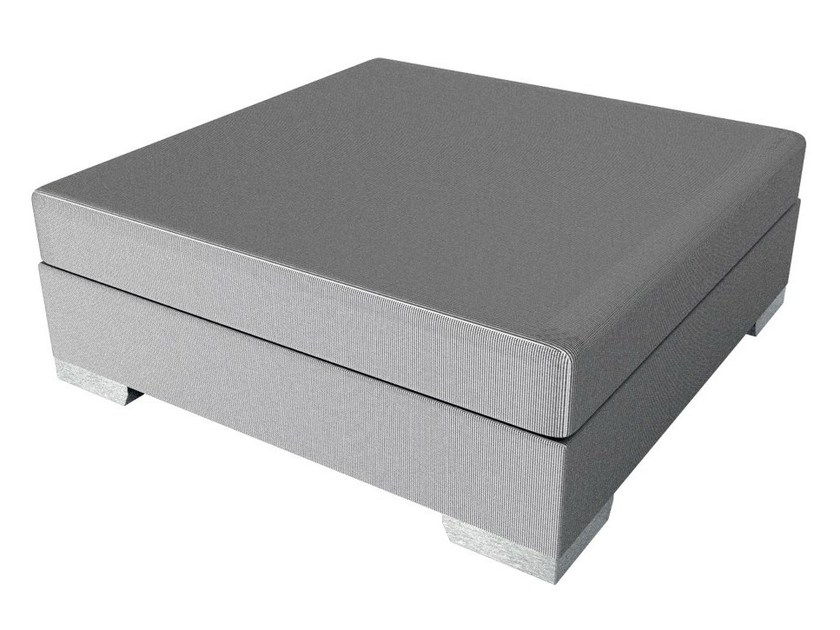 Square Twitchell® garden footstool MILANO | Square garden footstool by Sérénité Luxury Monaco