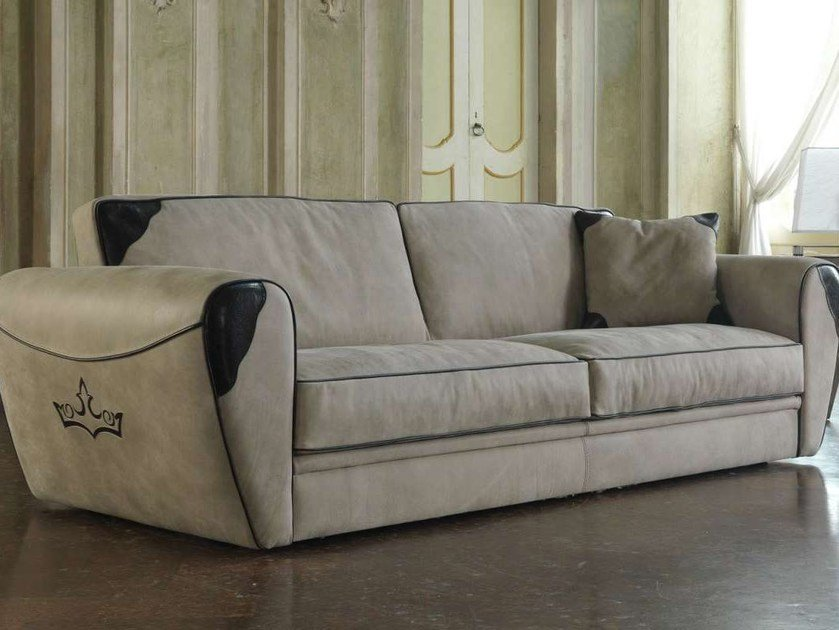 Leather sofa KING by Formenti