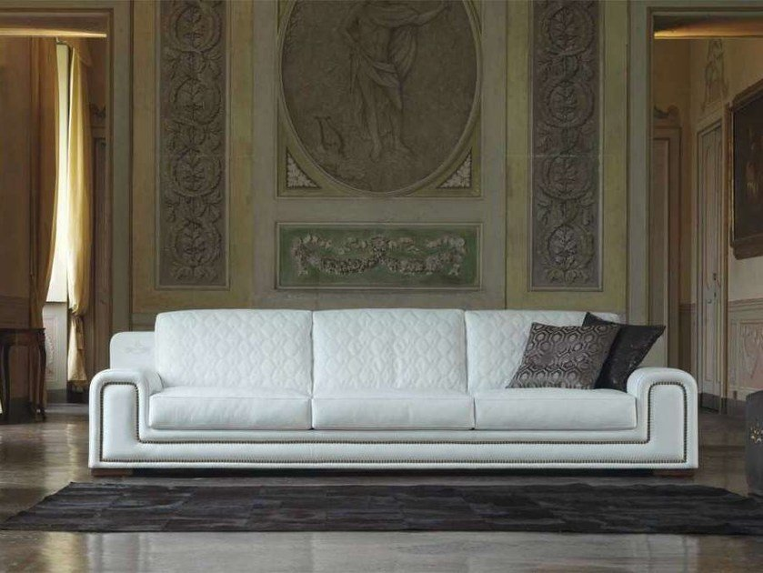 Leather sofa MAJESTIC by Formenti