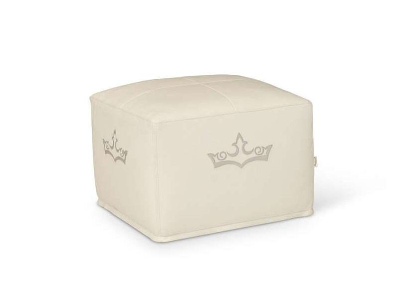 Upholstered leather pouf SECTOR by Formenti