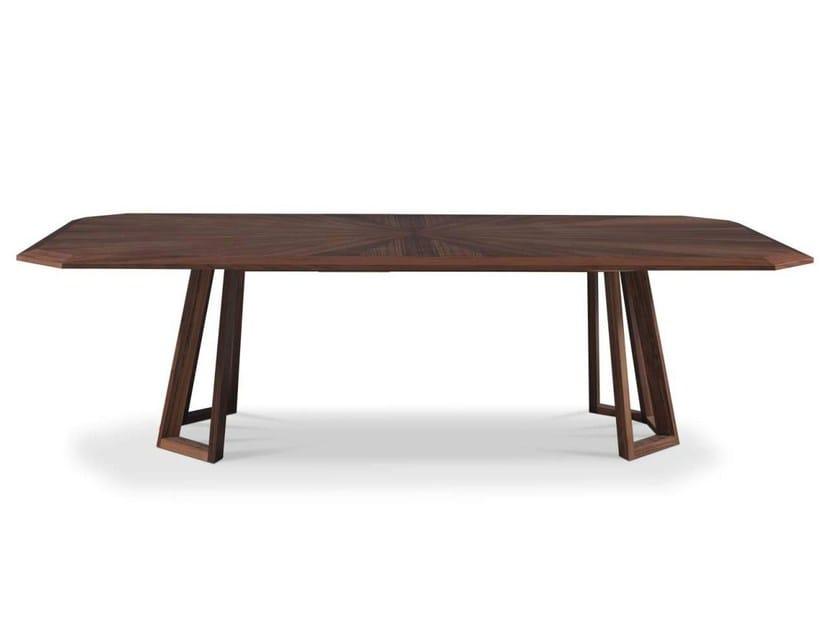 Rectangular wooden table ZEN by Formenti
