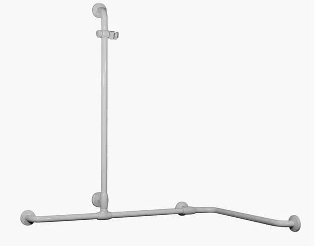 Maniglione bagno ad angolo in acciaio zincato per doccia MAXIMA | Maniglione bagno ad angolo by Ponte Giulio
