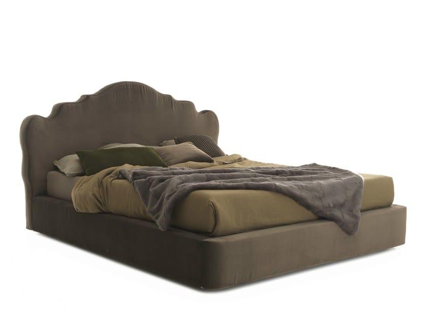 Double bed with high headboard CORONAS by Bolzan Letti