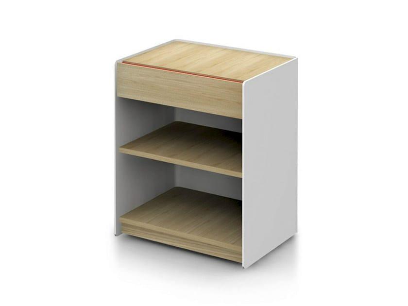 Low solid wood office storage unit LANDA   Office storage unit by ALKI