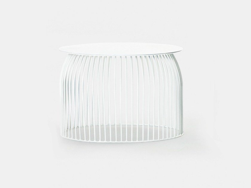 Low round steel bistro side table TURI TURI | Low coffee table by La Cividina