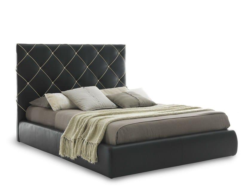 Double bed with tufted headboard DUBAI by Bolzan Letti