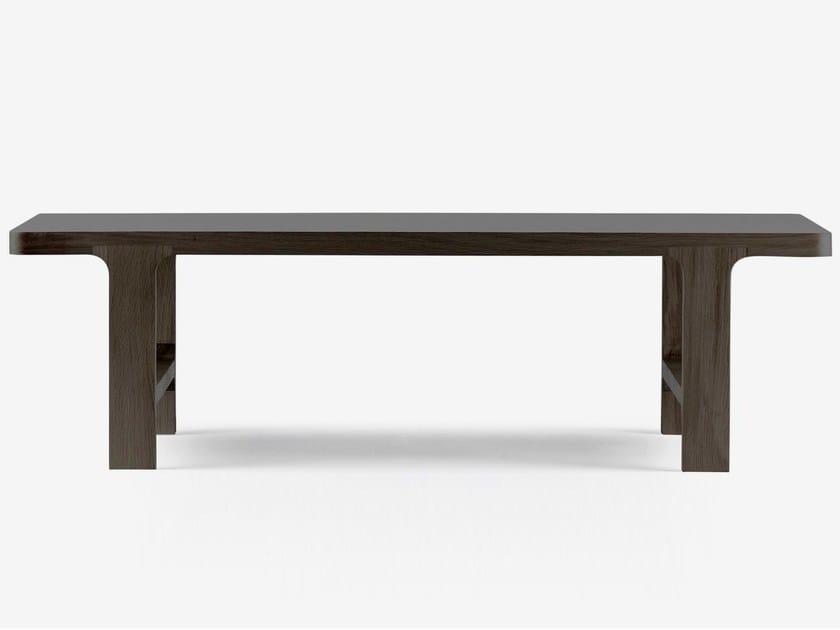 Low rectangular oak coffee table EMEA   Rectangular coffee table by ALKI