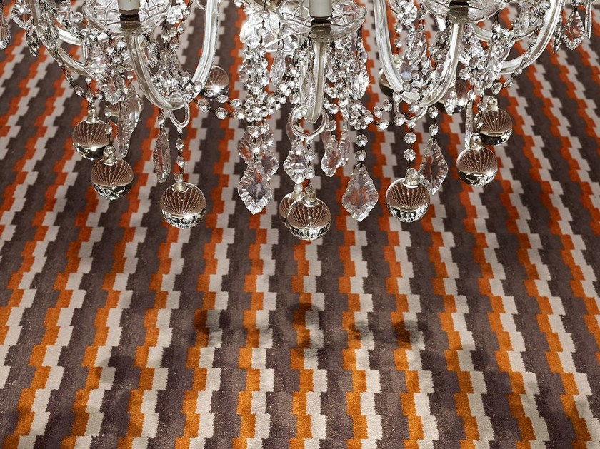 Carpeting with geometric shapes BLOGG 1200 by OBJECT CARPET GmbH
