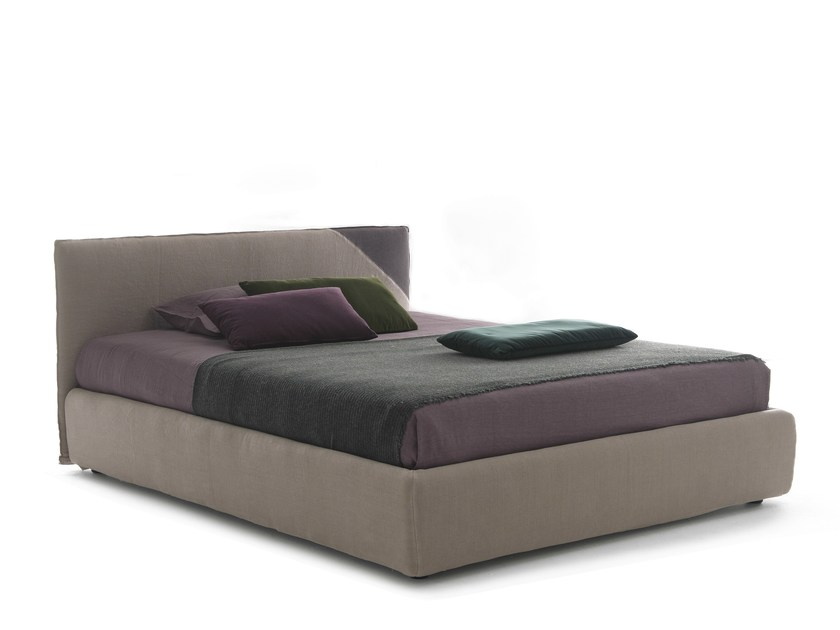 Double bed with removable cover HELLO by Bolzan Letti
