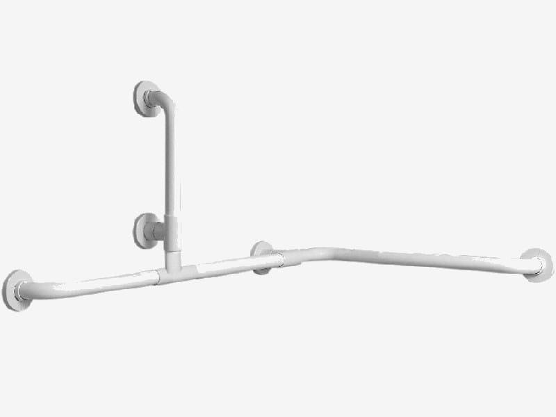 Maniglione bagno ad angolo fisso in acciaio zincato TUBOCOLOR | Maniglione bagno fisso by Ponte Giulio