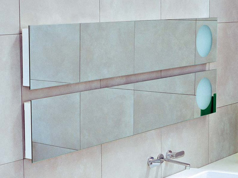 Rectangular wall-mounted mirror with integrated lighting SIMPLE 150/180 | Rectangular mirror by CERAMICA FLAMINIA