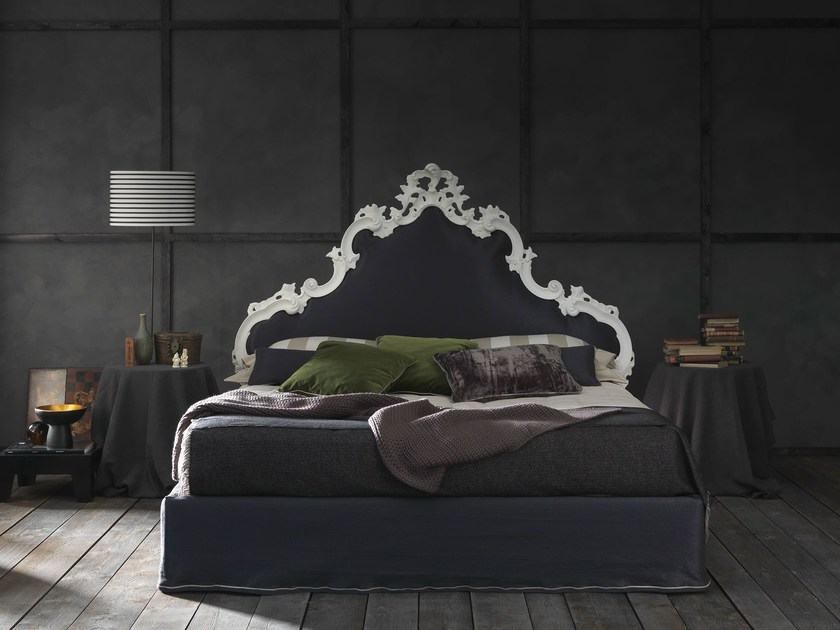 Double bed with high headboard MADEMOISELLE CHIC by Bolzan Letti