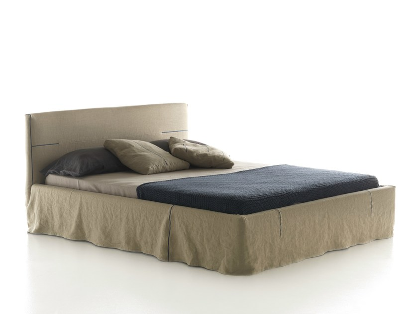 Double bed with removable cover METROPOLITAN CHIC by Bolzan Letti