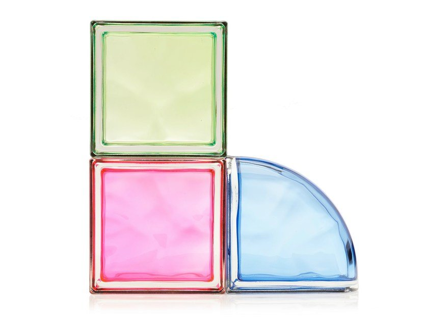 Coloured glass block NEW COLOUR by Seves glassblock