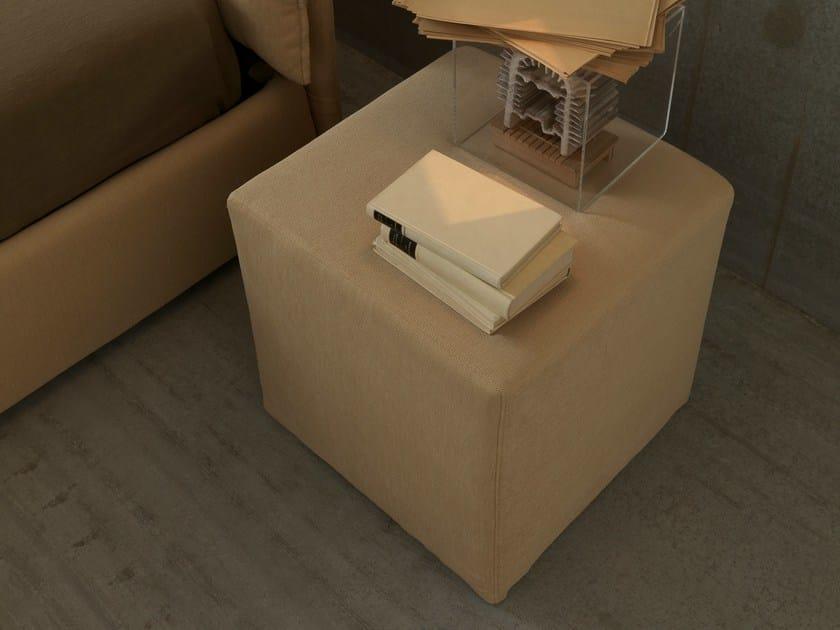 Upholstered pouf POUF QUADRATO by Bolzan Letti