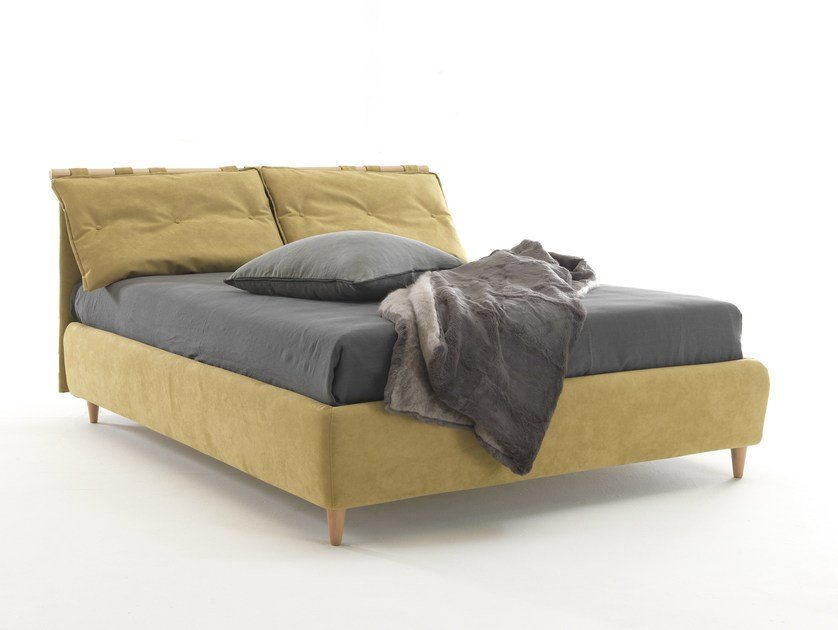 Double bed with removable cover SIVIGLIA by Bolzan Letti