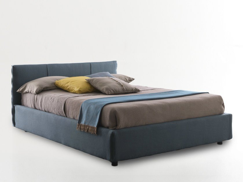 Upholstered double bed SUN | Bed by Bolzan Letti