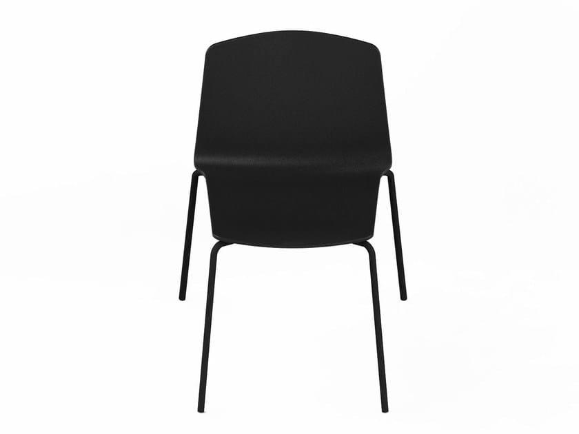 Stackable polypropylene garden chair RAMA | Garden chair by Kristalia