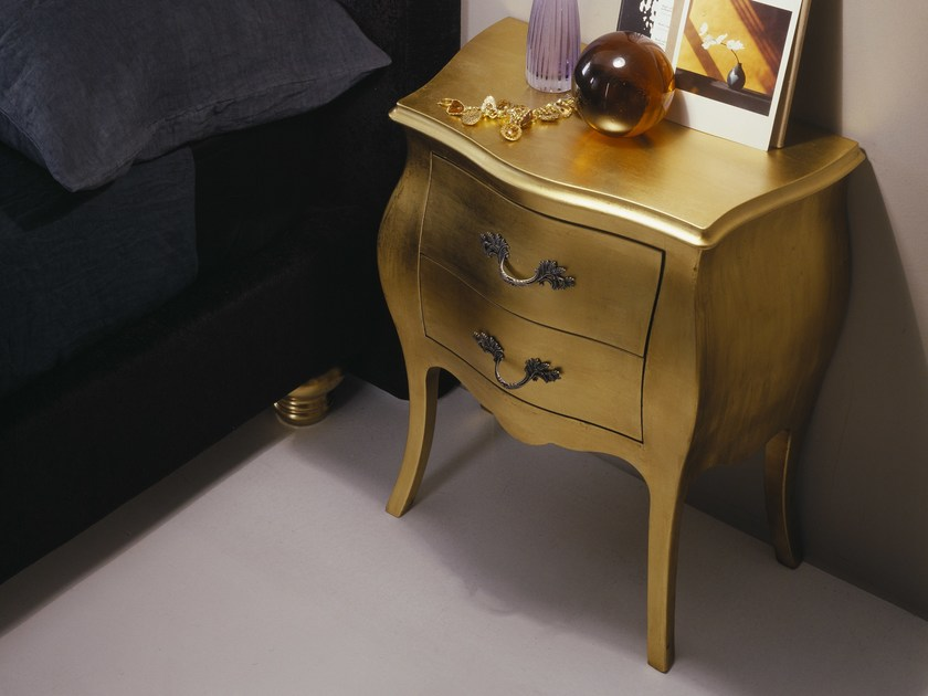 Bedside table with drawers VENICE by Bolzan Letti