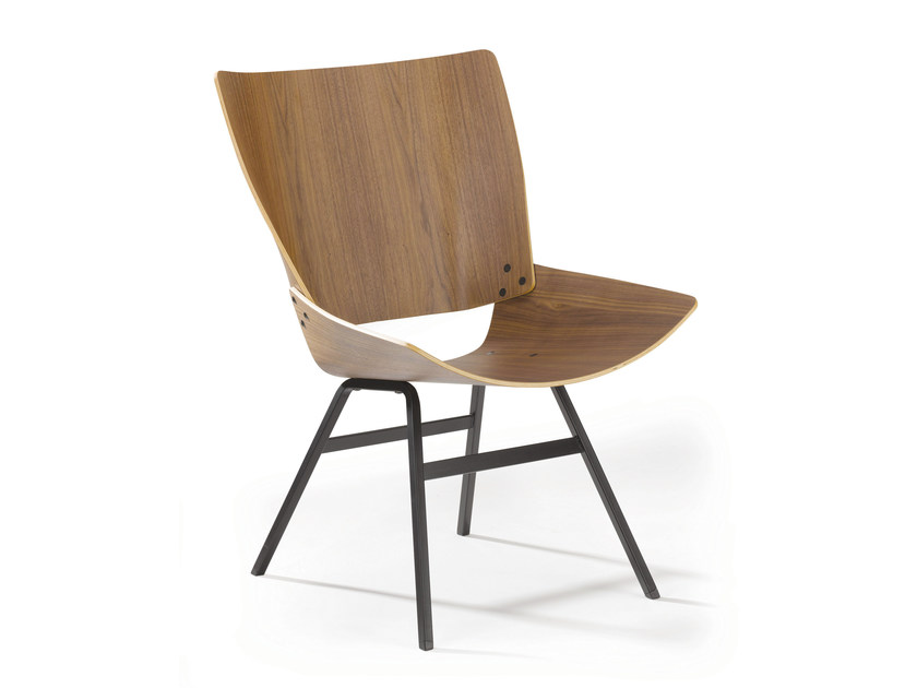 Wooden chair SHELL LOUNGE by Rex Kralj