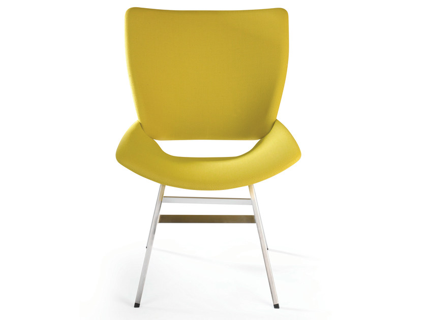 Upholstered fabric chair SHELL LOUNGE TEXTILE by Rex Kralj