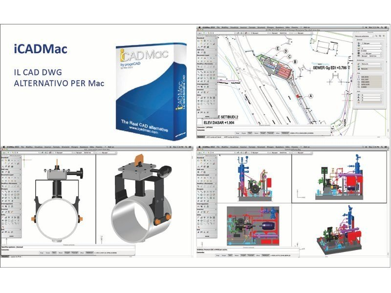 2D & 3D CAD technical design iCADMac by ProgeSOFT Italia