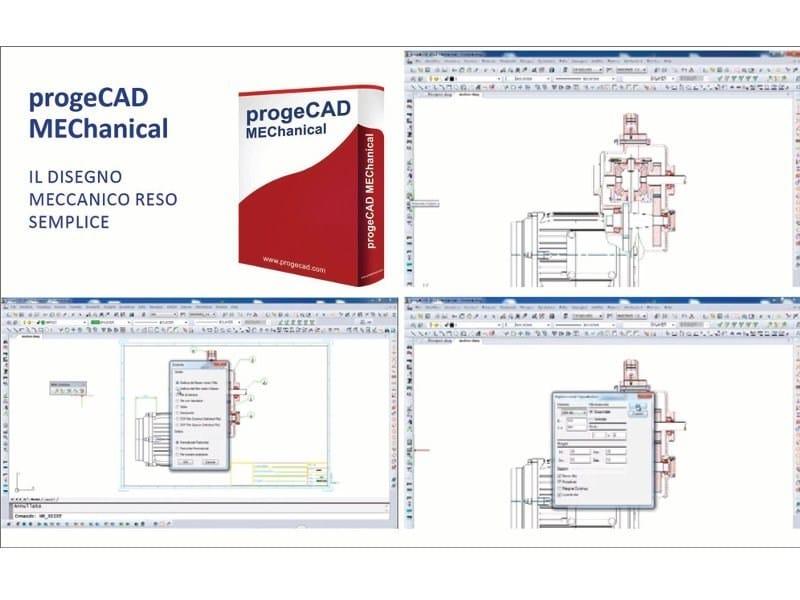 2D & 3D CAD technical design progeCAD Mechanical by ProgeSOFT Italia