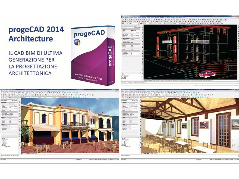 2D & 3D CAD technical design progeCAD Architecture by ProgeSOFT Italia