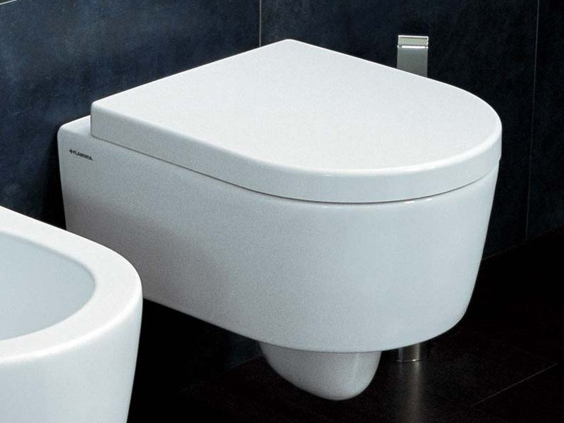 Wall-hung ceramic toilet MINI LINK | Wall-hung toilet by CERAMICA FLAMINIA