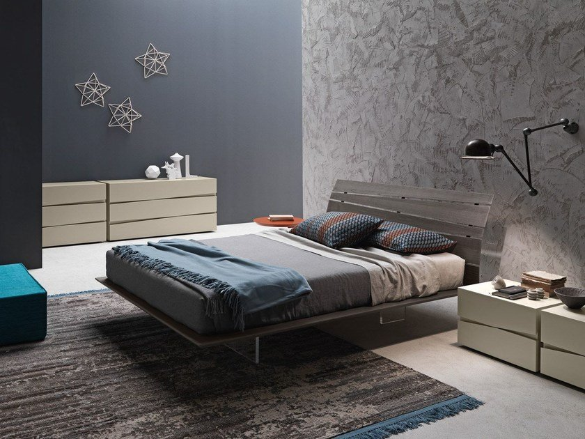 Wooden double bed TANGO WOOD | Double bed by Presotto