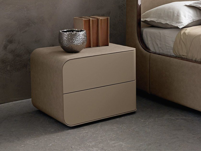 Lacquered rectangular wooden bedside table PASSION | Bedside table by Presotto